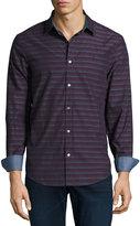 Original Penguin Horizontal Striped Long-Sleeve Shirt, Purple