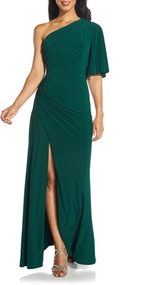 Adrianna Papell One-Shoulder Jersey Dress