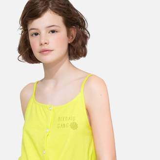 La Redoute Collections Tie Front Vest Top with Shoestring Straps, 10-16 Years
