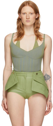 Jacquemus Green and Blue La Maille Valensole Tank Top