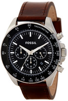 Fossil Men&s Chronograph Leather Strap Watch