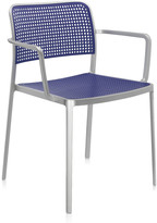 Kartell Audrey Shiny Armchair - Aluminium/Blue