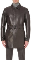 Canali Reversible Leather Coat