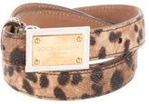 Dolce & Gabbana Leopard Logo Waist Belt