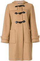 Stella McCartney hooded duffle coat - women - Cotton/Polyamide/Viscose/Wool - 38