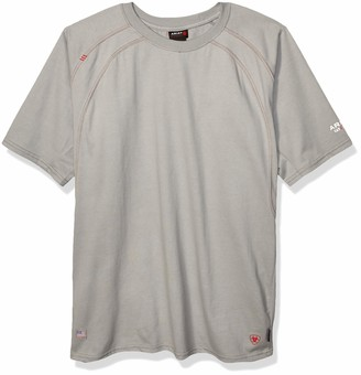 Ariat Men's Flame Resistant Fitted Short Sleeve Work Crew