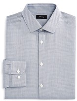 Theory Privilege Houndstooth Slim Fit Dress Shirt