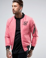 Siksilk Suedette Bomber Jacket In Pink