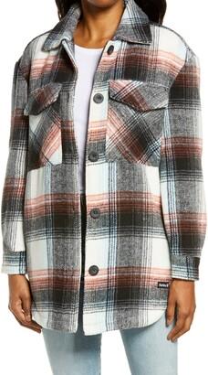 Hurley Plaid Shirt Jacket