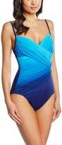 Miraclesuit Swimsuit 1 Piece Centerfold Dip Dye Bleu