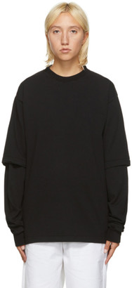 GR10K Black Double Utility Long Sleeve T-Shirt