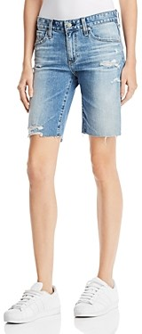 AG Jeans Nikki Denim Shorts in 16 Years Indigo Deluge Destructed