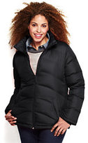 Classic Women's Plus Size Down Jacket-Gray Plaid
