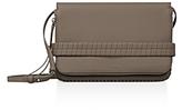 AllSaints Club Matte Medium Leather Clutch