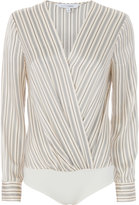 Exclusive for Intermix Brody Striped Cross Front Bodysuit