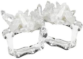 Eliská Crystal & Glass Napkin Rings - Quartz