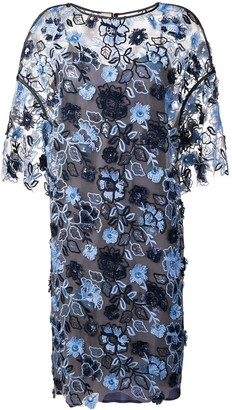 Antonio Marras Floral Embroidered Shift Dress