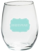 Kate Aspen Set of 4) Bridesmaids Something Blue 15 Oz. Stemless Wine Glass