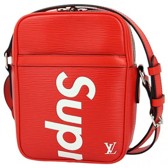 Louis Vuitton X Supreme Red Leather Bags