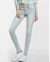 Express gray mid rise performance stretch jean legging