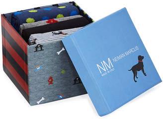 Neiman Marcus Dogs 4-Pack Printed Socks Gift Box