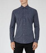 Reiss Bleu Textured Slim Shirt