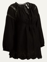 Thumbnail for your product : Old Navy Maternity Lace-Trim Tie-Neck Poet Blouse