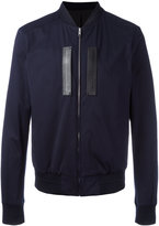Juun.J zip up jacket - men - Cotton/Leather/Polyester/Cupro - 48