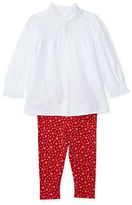 Ralph Lauren Baby Girls Two-Piece Top and Printed Leggings Set
