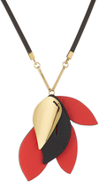 Marni Necklace with Leather and Brass