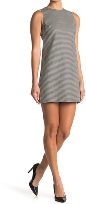 Alice + Olivia Coley Crew Neck A-Line Dress