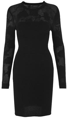 Versace Tattoo Knit Bodycon Dress