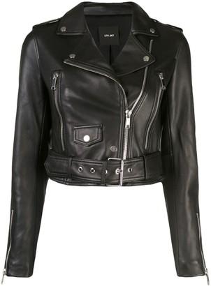 LTH JKT Mya cropped biker jacket