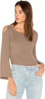 525 America Cut Out Shoulder Sweater