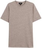 A.p.c. Jimmy Flecked Cotton Blend T-shirt