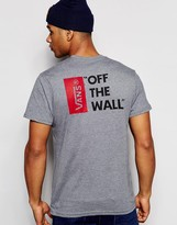Vans T-Shirt With Off The Wall Back Print In Grey V5y0htg