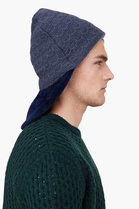 Raf Simons Grey Angora Structured Knit Hat