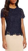 Preston & York Giselle Short Sleeve Lace Blouse