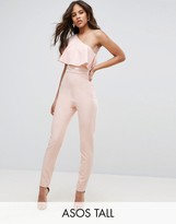 ASOS Tall ASOS TALL One Shoulder Ruffle Jumpsuit