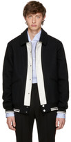 Ports 1961 Black and Off-white follow Me Bomber Jacket