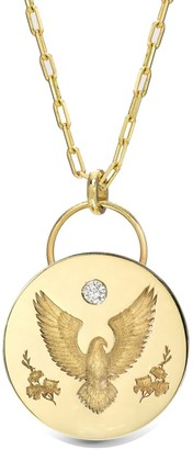 Retrouvaí Honor Alchemy Padlock on Yellow Gold Link Chain Necklace