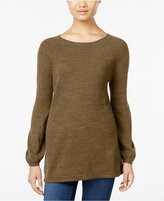 Style&Co. Style & Co Petite Boat-Neck Swing Sweater, Only at Macy's