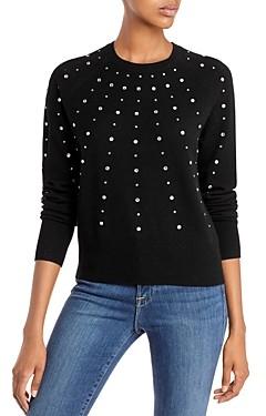 Aqua Cashmere Rhinestone Cashmere Sweater - 100% Exclusive