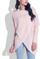 Fobya Women's Pullover Sweaters Pinkpowder - Pink Powder Wrap Sweater - Women