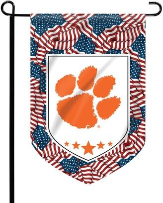 "Clemson Tigers 12"" x 15"" Patriotic Garden Flag"