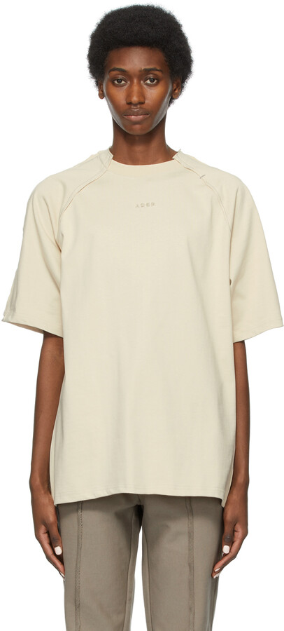 Thumbnail for your product : Ader Error Beige Sciss T-Shirt