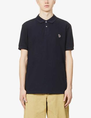 Paul Smith Zebra-embroidered cotton-pique polo shirt