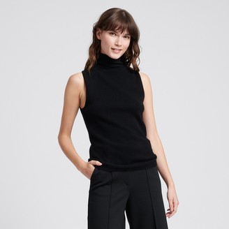 Naadam Cashmere Sleeveless Turtleneck