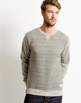 Bellfield Line Print Sweat Gray