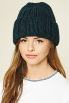 Forever 21 FOREVER 21+ Purl Knit Fold-over Beanie